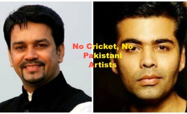 No Cricket With Pakistan and No Pakistani Artists in India