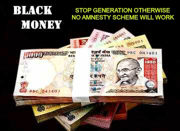 Black Money: Stop Generation, Amnesty Schemes Are No Answer