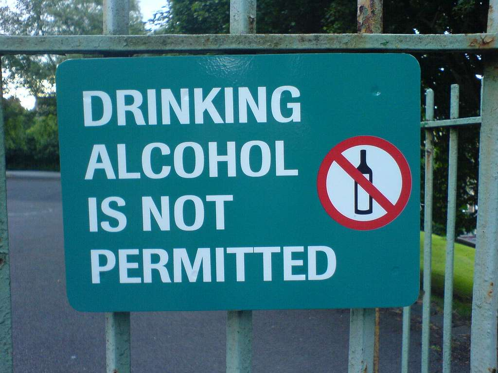 Drinking in Public Places and Near Liquor Shops
