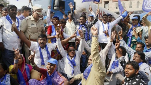 The Dalit Protests Were Politically Motivated