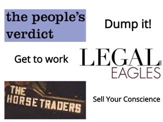 Over To Legal Eagles And Horse Traders