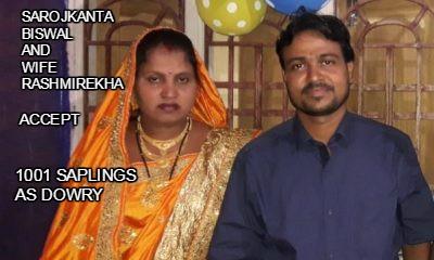 Saplings As Dowry: Odisha Man Sets A 'Green' Example