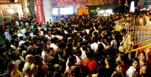 puja crowd