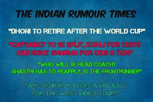 Stop Rumour-Mongering In Cricket