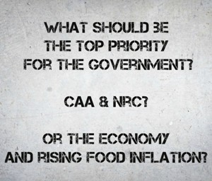 Why Arouse Passions Over CAA & NRC When It Is The Economy That Demands Immediate And Serious Attention?