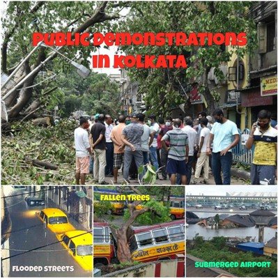 Demonstrations In Kolkata As Restoration Work Is Painfully Slow