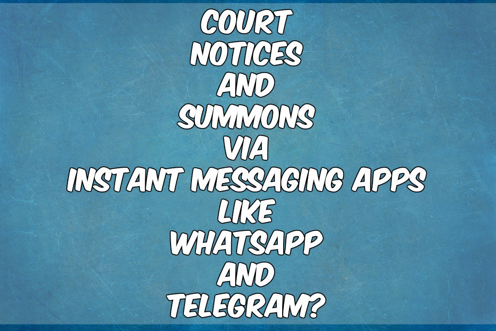 Supreme Court Allows, In Principle, Delivery Of Court Notices And Summons Over IMAs Like WhatsApp And Telegram
