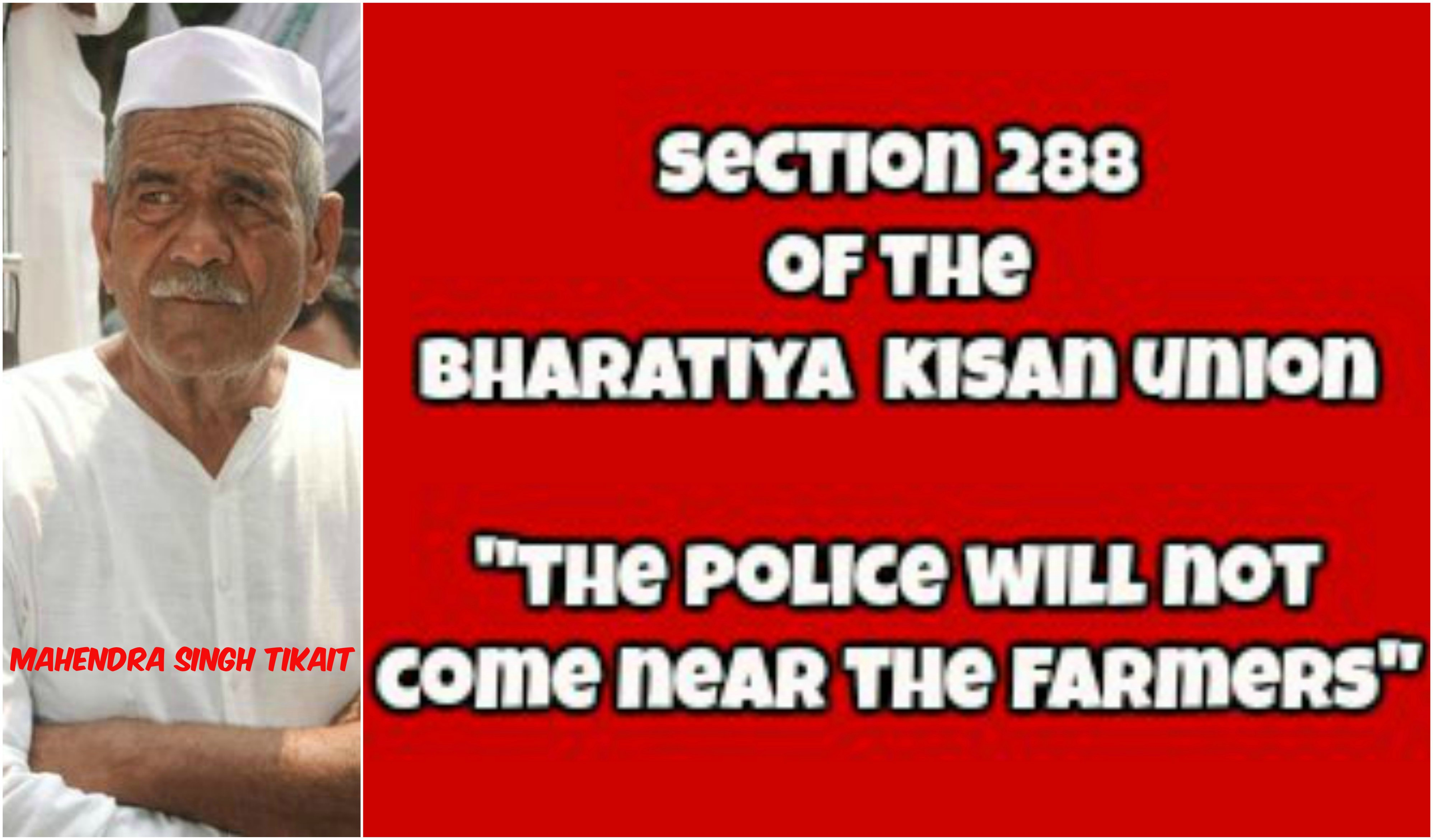 Farmers Impose @@@Section 288@@@ Of The BKU