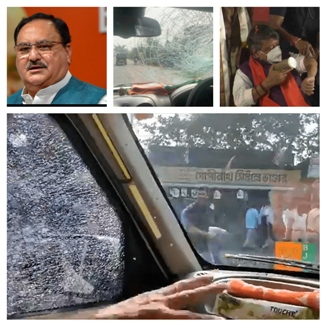 Centre Spars With West Bengal Over Attack On JP Nadda@@@s Convoy