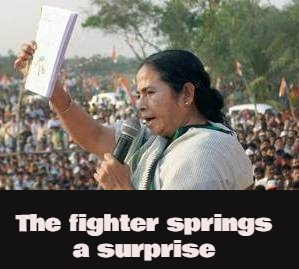 Mamata Banerjee@@@s Counter-Attack - Will Contest From Nandigram