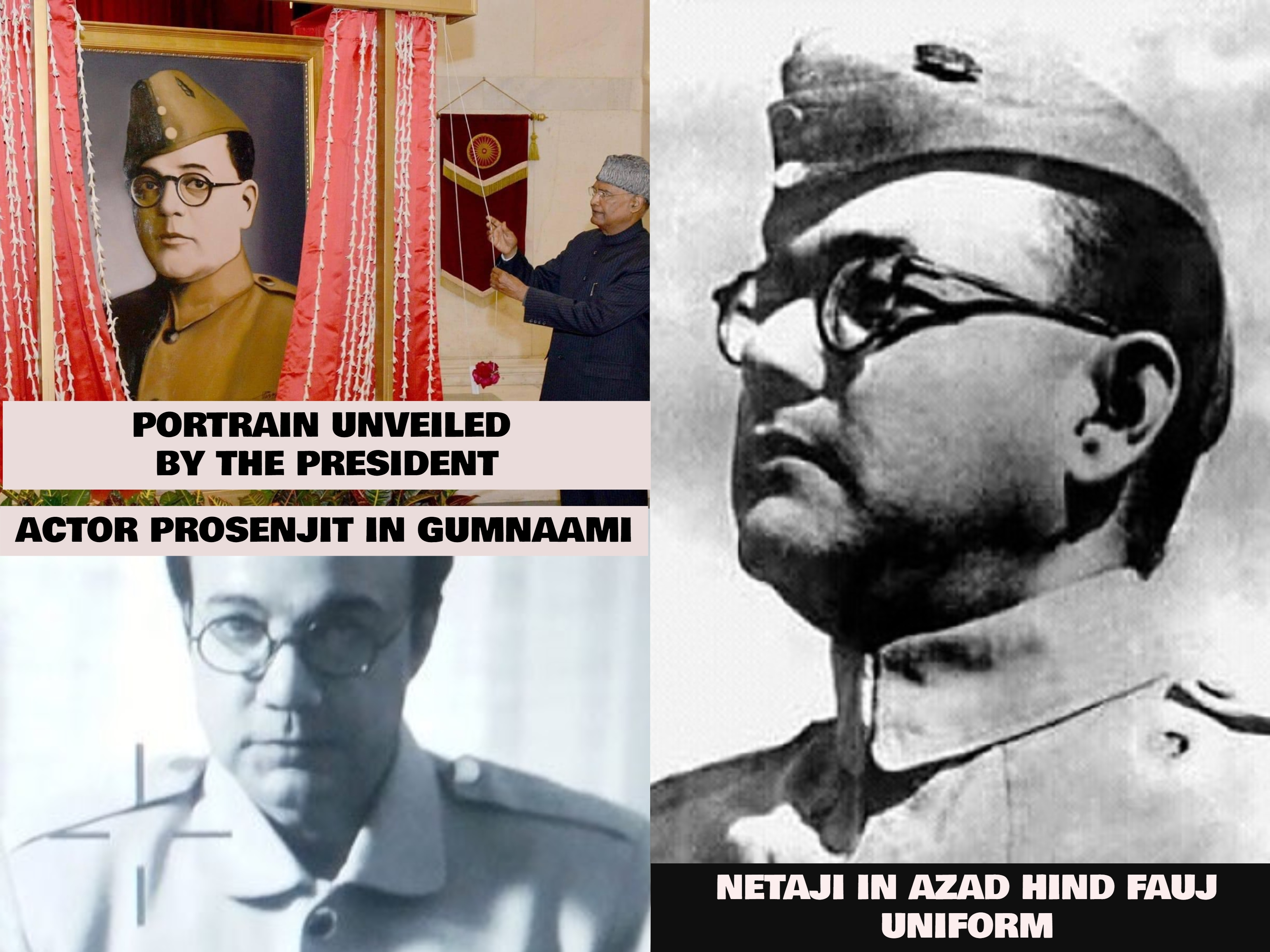Are The Allegations About Netaji@@@s Portrait Unveiled By The President Being Of Actor Prosenjit Correct?