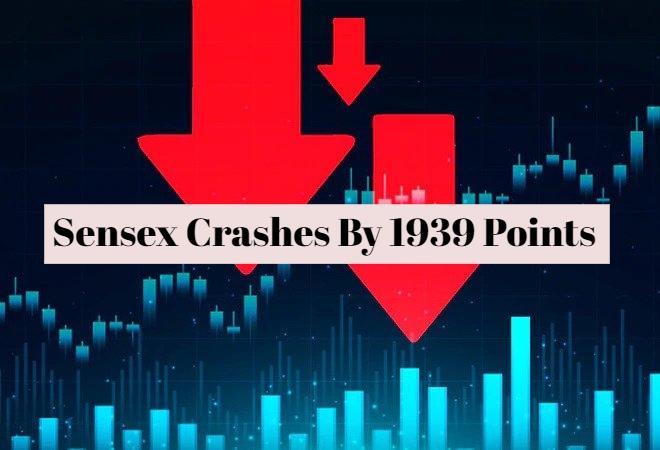 Sensex Down By 1939 Points: Stocks Crash As Bond Yields Rise