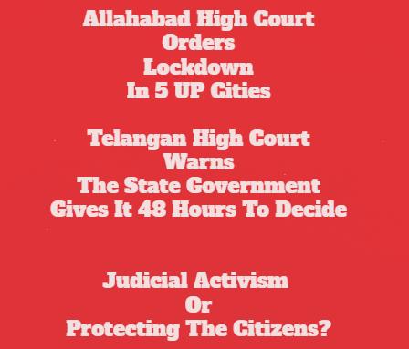Courts Order Lockdowns: Judicial Activism?