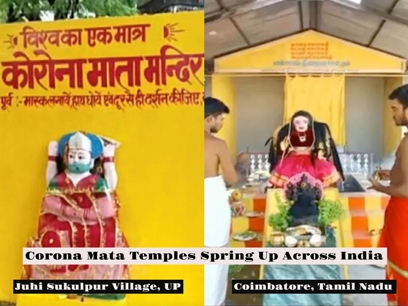 Superstition Rules As Corona Mata Temples Start Coming Up