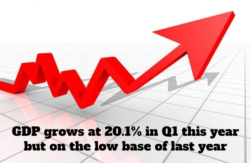 GDP Grows At 20.1% In Q1: The Low Base Effect