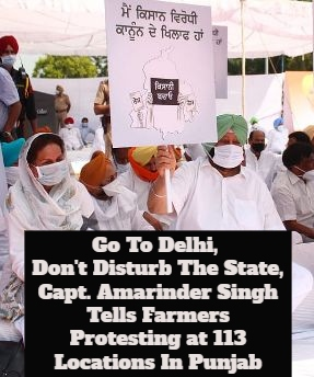 Why Amarinder Singh Wants Protesting Farmers To Go To Delhi