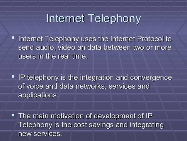 Opening Up Internet Telephony and Spectrum Use
