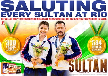 Yash Raj Reward for Every Sultan at Rio