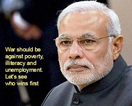 Modi Forcefully Rejects War As an Option