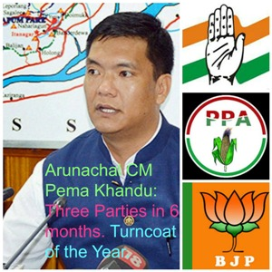 Pema Khandu: Changes Party, Remains CM