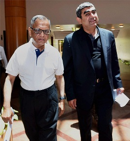 Infosys: Narayana Murthy Meddles, Sikka Goes