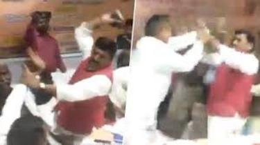 UP: BJP Legislators Fight, Choicest Abuses Fly And Blows Landed With Shoe
